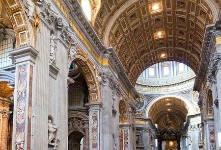 catholic chapel: Italy. Rome. Vatican. St Peters Basilica. Indoor view.