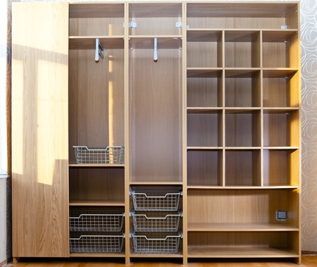 furniture store: New wardrobe in the course of assemblage