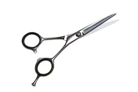 shears: Special scissors for work of hairdresser Stock Photo