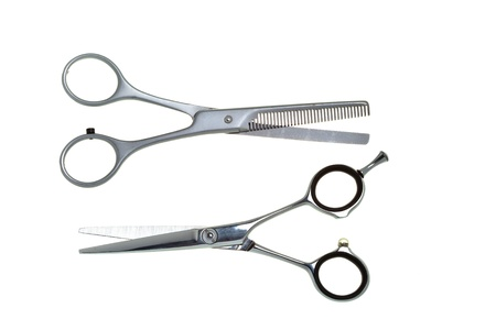 tapering:  Special scissors for work of hairdresser