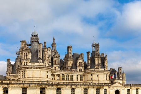 chambord: castle of a valley of the river Loire. France. Chambord castle (Chateau de Chambord)