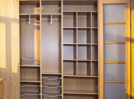 closet door: New wardrobe in the course of assemblage