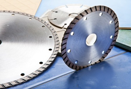 Diamond discs for cutting of tile Stock Photo - 10347354