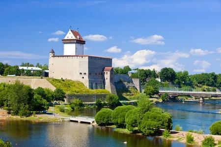 estonia: Estonia. Narva. Ancient fortress on border with Russia
