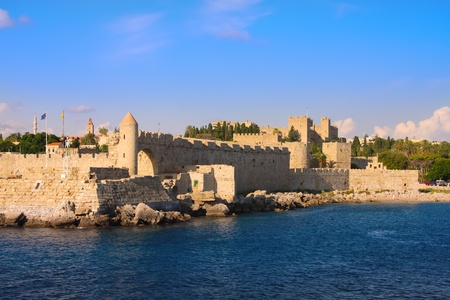 rhodes: Greece. Rhodes. An ancient fortification round an old city