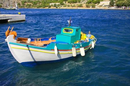 Greece. A boat in the sea photo