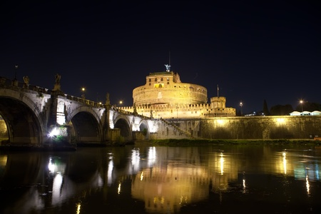 Italy. Rome. Night. Castel Sant' Angelo