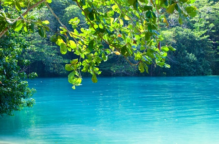 Jamaica. A Blue lagoon. (Popular after shooting the film with same name)
