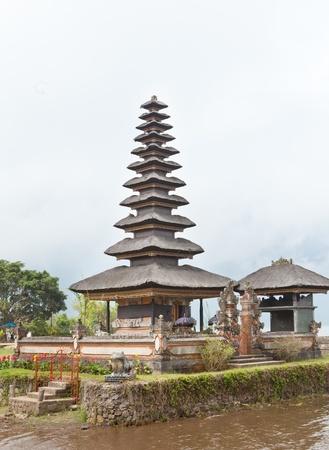 temple Ulun Danu on lake Beratan, Bali,Indonesia photo