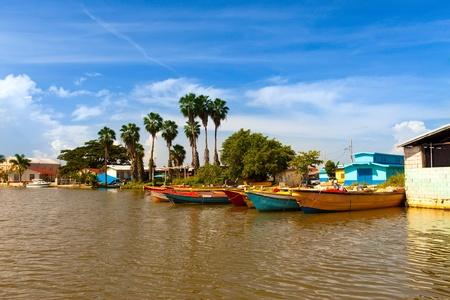 Jamaica. National boats on the Black river Фото со стока