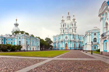 View on Smolnyi  cathedral (Smolny Convent) St. Petersburg  photo