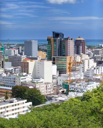 mauritius: Observatiedek in het Fort Adelaide op de Port-Louis-de hoofdstad van Mauritius