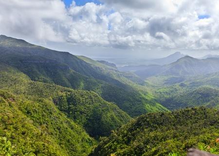 mauritius: uitzicht op de bergen Stockfoto