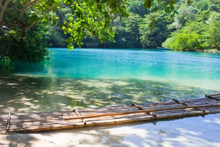 Jamaica. A Blue lagoon. Stock Photo