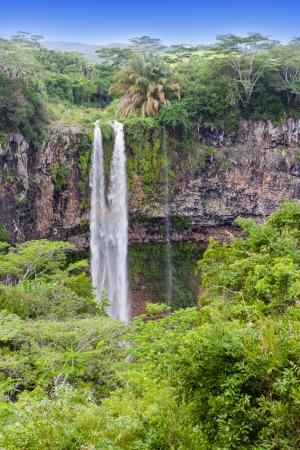 Chamarel waterfalls in Mauritius   Imagens