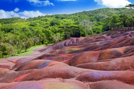 모리셔스 - 샤마 렐 - 7 색깔의 땅의 주요 광경