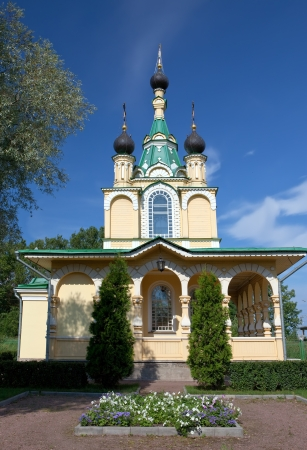 grieving: Church for the sake of the Mother of God icon,All grieving pleasure,. Russia. Petersburg.