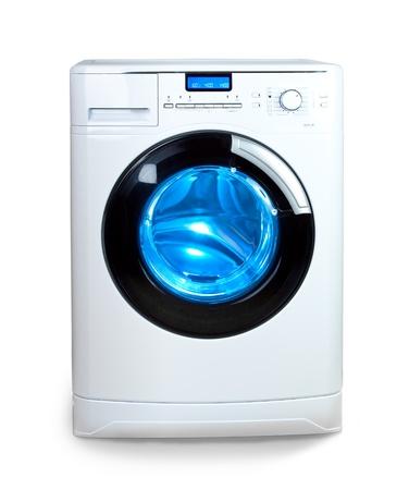 The washing machine on a white background photo