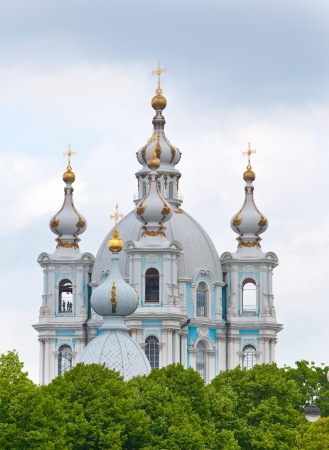 Smolnyi  cathedral (Smolny Convent) St. Petersburg  photo
