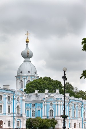 Smolnyi  cathedral (Smolny Convent) St. Petersburg.Russia photo