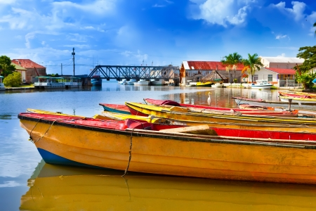 Jamaica. National boats on the Black river. Фото со стока