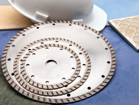 Diamond discs for cutting of tile Stock Photo - 15137349