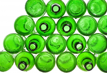 Empty glass beer bottles  photo