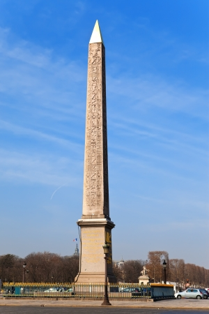 France. Paris. Egyptian column on Place de Concorde. photo