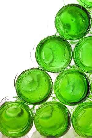 Bottoms of empty glass bottles  photo