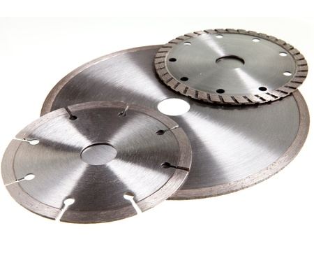 Diamond discs for tile and concrete cutting  Stock Photo