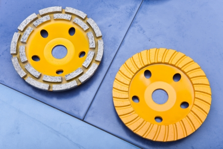 abrasion: Diamond disks for a concrete abrasion Stock Photo