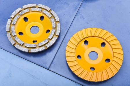 Diamond disks for a concrete abrasion Stock Photo - 16614588