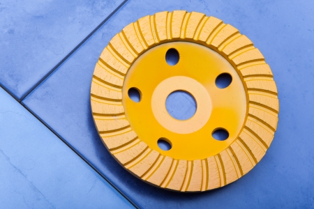 Diamond disk for a concrete abrasion Stock Photo - 16614581
