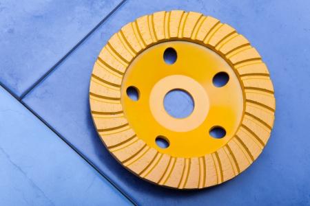 Diamond disk for a concrete abrasion Stock Photo - 16614581