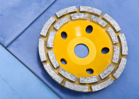 Diamond disk for a concrete abrasion Stock Photo - 16614587