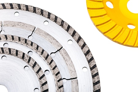 Diamond disks for concrete cutting and abrasion Stock Photo - 16614580