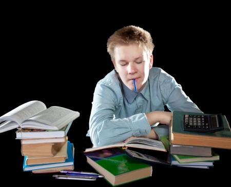 decide: El alumno decide tarea Foto de archivo