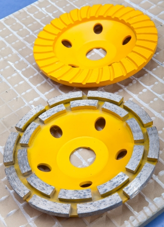 Diamond disks for concrete cutting and abrasion Stock Photo - 19067363