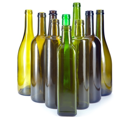 colored bottle: Bright colorful bottles