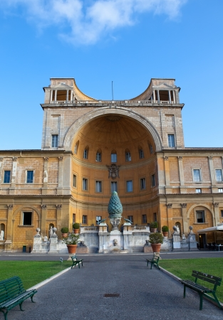 1st century ad: Italy. Rome. Vatican. Fontana della Pigna (Pine Cone Fountain) from the 1st century AD   Editorial