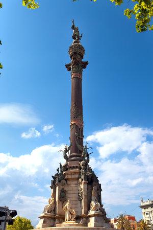 Spain. Barcelona. Monument of Columbus