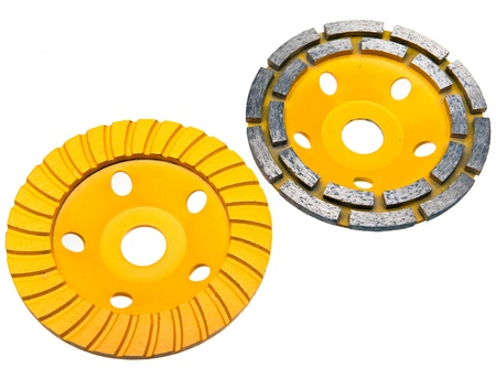 Diamond disks for concrete cutting and abrasion Stock Photo - 20361762