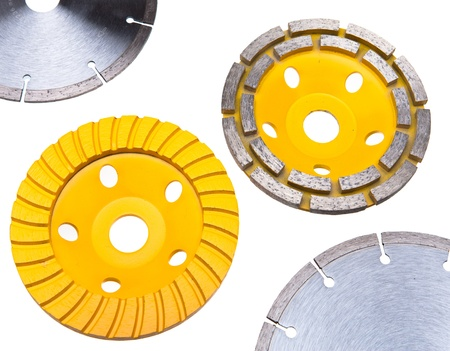 abrasion: Diamond disks for tile  and for concrete cutting and abrasion Stock Photo