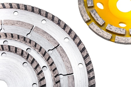 Diamond disks for concrete cutting and abrasion Stock Photo - 20362179
