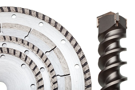 detachable disks for are sharp construction materials and the drill Stock Photo - 20361739