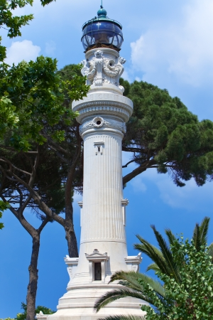 Faro de Gianicolo- Manfredi Lighthouse in Rome, Italy. photo