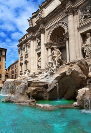 bernini: Trevi Fountain in Rome - Italy. (Fontana di Trevi)