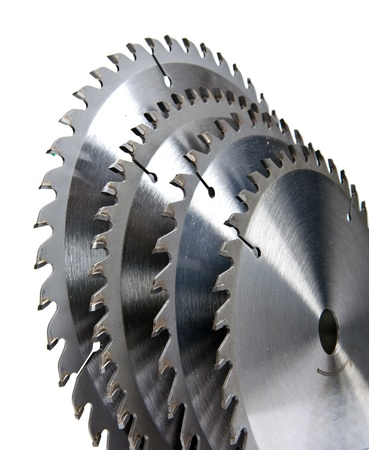Circular saw blade for wood with hard alloy insertions  photo