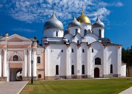Saint Sophia cathedral in Kremlin, Great Novgorod, Russia   photo