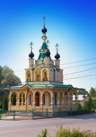 grieving: Church for the sake of the Mother of God icon All grieving pleasure. Russia. Petersburg.   Stock Photo